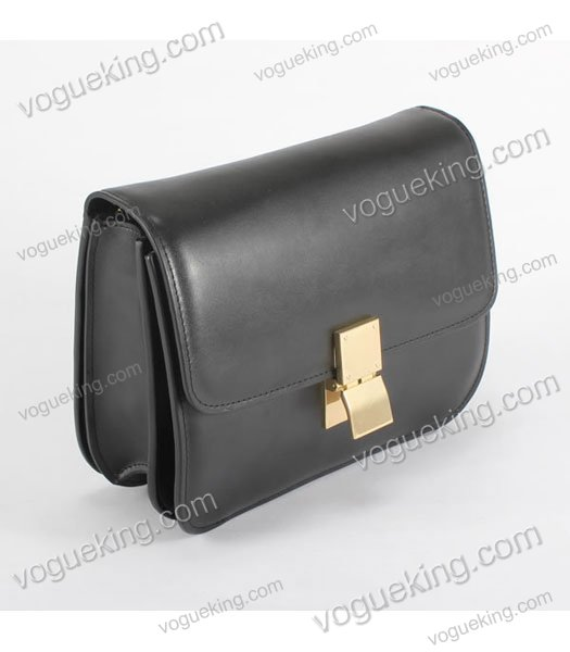 Celine Classic Box Small Flap Bag Black Calfskin Leather-1
