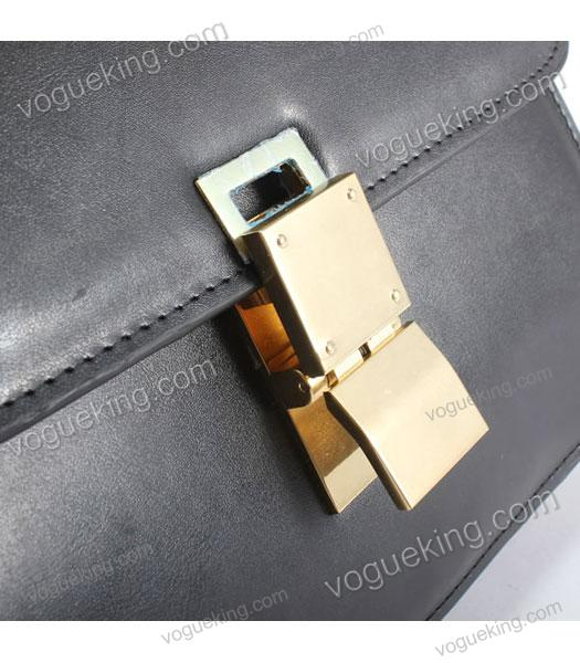 Celine Classic Box Small Flap Bag Black Calfskin Leather-5