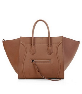 Celine Phantom Square Bags Light Coffee Imported Leather
