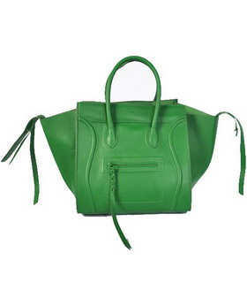 Celine Phantom Square Bags Grass-green Imported Leather