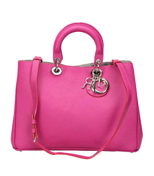 Christian Dior Fuchsia Original Leather Medium Diorissimo Bag
