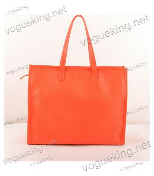 Fendi Red Suede Leather Large Shopping Bag-2