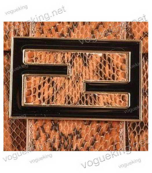 Fendi Forever Mama Shoulder Bag With Coffee Snake Veins Leather-4