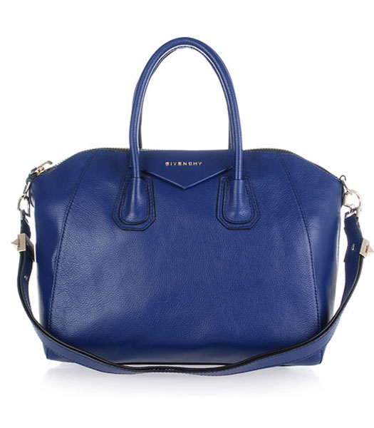 Givenchy Antigona Litchi Veins Leather Bag in Sapphire Blue