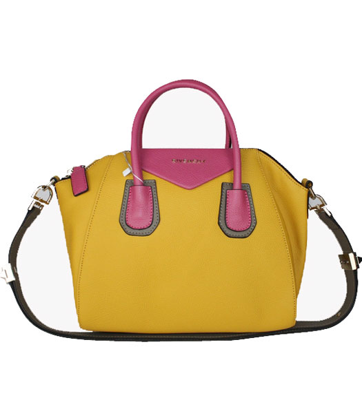 Givenchy Antigona Yellow Clemence Leather Satchel Tote Bag