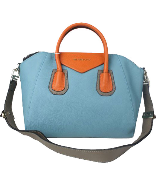 Givenchy Antigona Sky Blue Clemence Leather Satchel Tote Bag