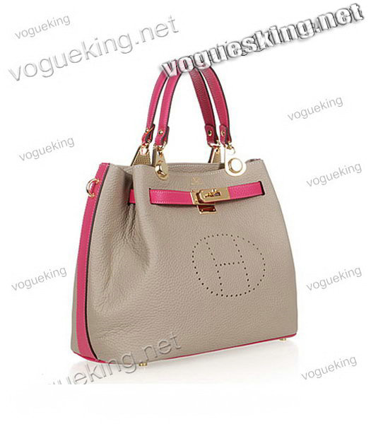 Hermes Mini Kelly 35CM Handbag In Two-Tone Grey Leather-1