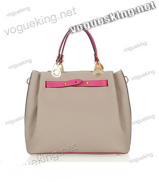 Hermes Mini Kelly 35CM Handbag In Two-Tone Grey Leather-2