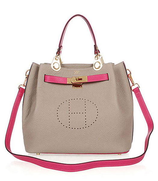 Hermes Mini Kelly 35CM Handbag In Two-Tone Grey Leather