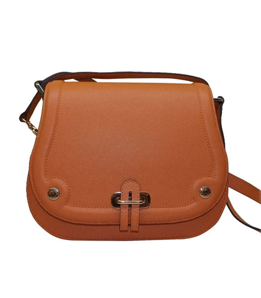 Hermes Saffiano Leather Orange Shoulder Bag