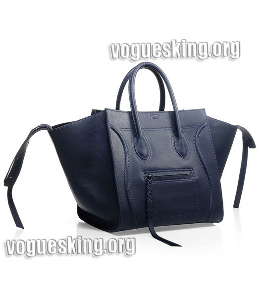 Celine Phantom Square Bags Dark Blue Imported Leather-1