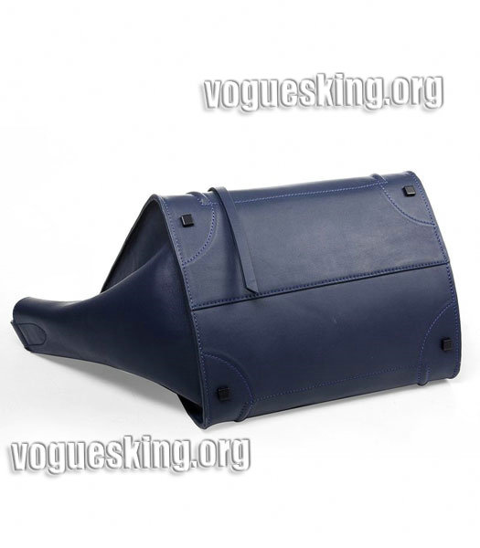 Celine Phantom Square Bags Dark Blue Imported Leather-3