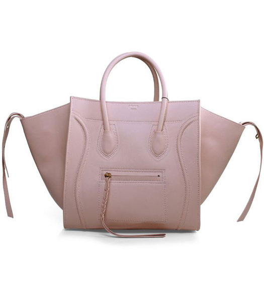 Celine Phantom Square Bags Light Pink Imported Leather