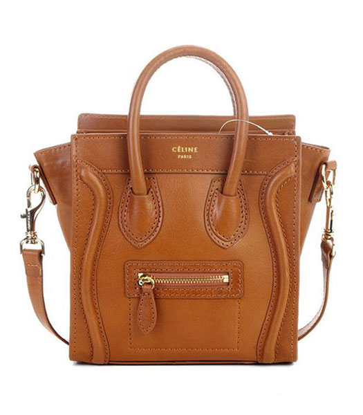 Celine Nano 20cm Small Tote Bag Light Coffee Imported Leather