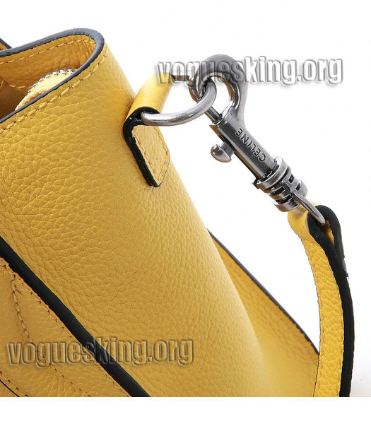 Celine Nano 20cm Small Tote Bag Yellow Litchi Pattern Imported Leather-5