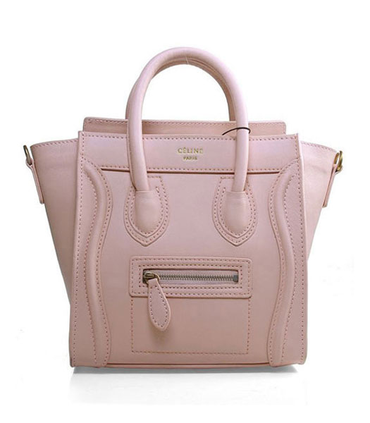 Celine Nano 20cm Small Tote Handbag Light Pink Imported Leather