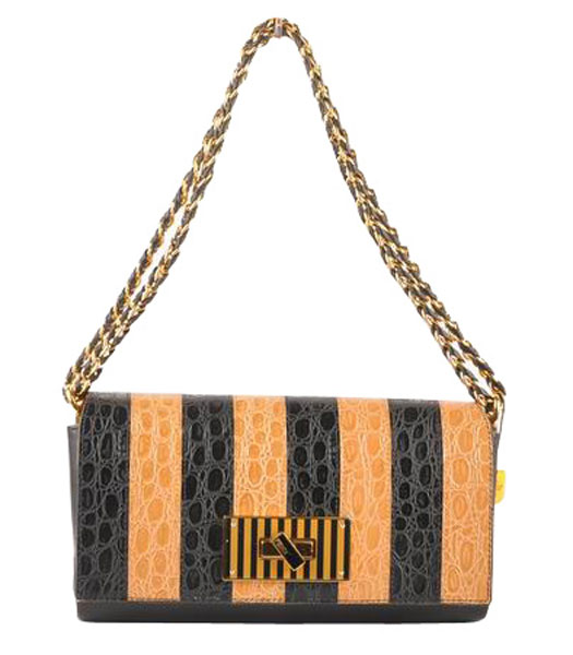 Fendi Accessories Apricot Imported Leather Medium Shoulder Bag