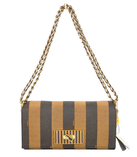 Fendi 2jours Black Imported Leather Tote Bag