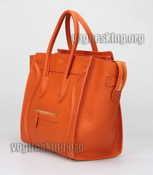 Fendi 2jours Transparent Plastic With Orange Leather Tote Bag-2