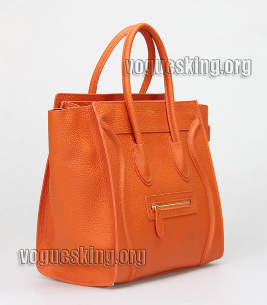 Fendi 2jours Transparent Plastic With Orange Leather Tote Bag-3