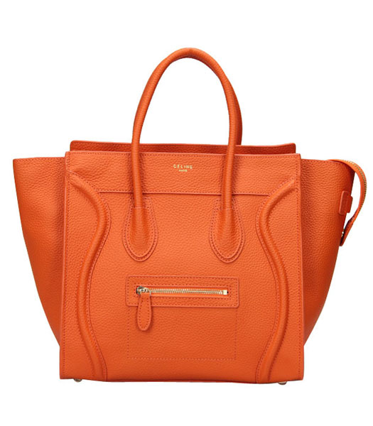 Fendi 2jours Transparent Plastic With Orange Leather Tote Bag