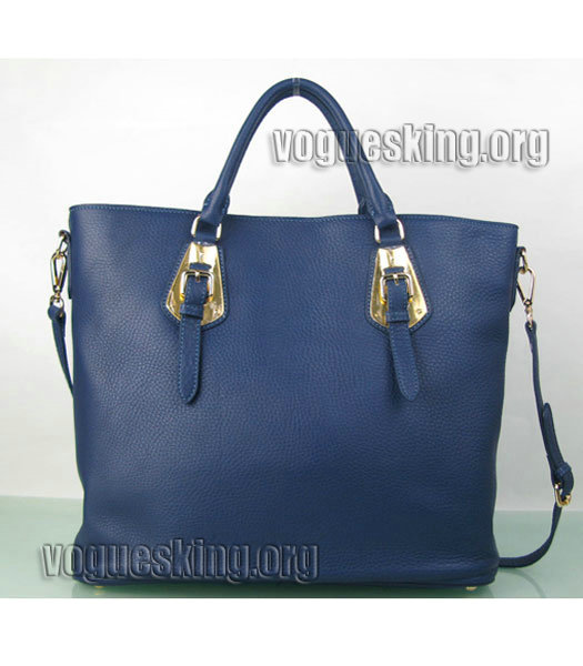 Yves Saint Laurent Bolso Mini Bag In Sapphire Blue Leather-1