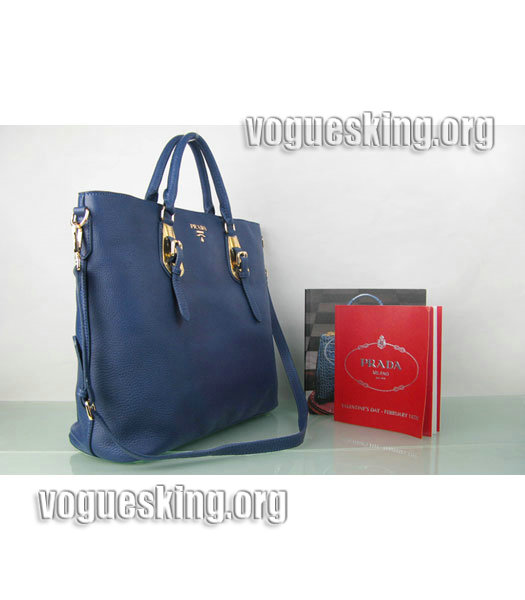 Yves Saint Laurent Bolso Mini Bag In Sapphire Blue Leather-2