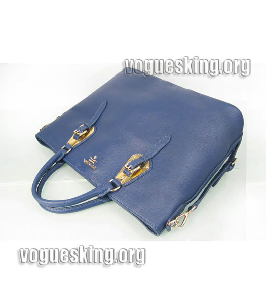 Yves Saint Laurent Bolso Mini Bag In Sapphire Blue Leather-4