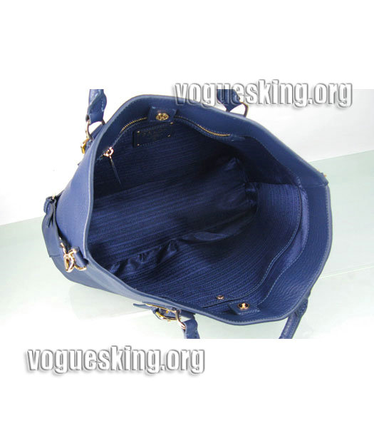 Yves Saint Laurent Bolso Mini Bag In Sapphire Blue Leather-5