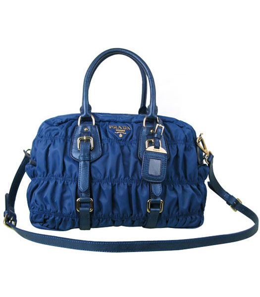 Balenciaga Medium Papier A5 Sapphire Blue Leather Anglaise Tote Bag