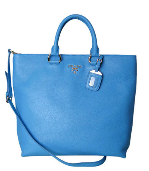 Balenciaga Mini Papier A4 Sapphire Blue Calfskin Leather Handbag