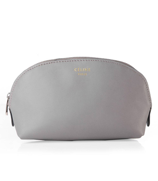 Celine Khaki Original Leather Cosmetic Bag