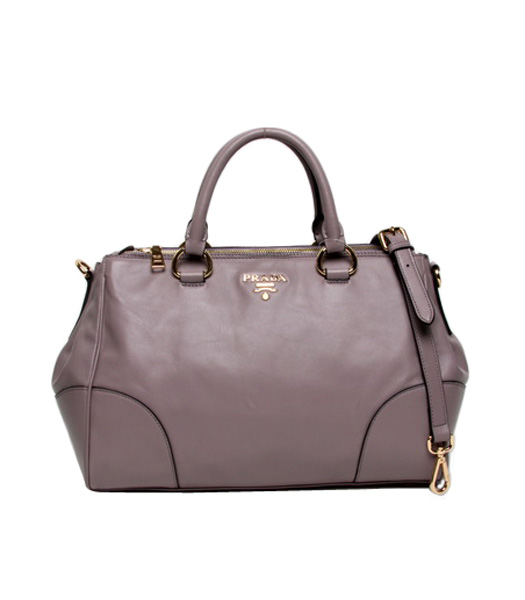 Prada Vitello Light Purple Original Oil Leather Shopping Tote Satche