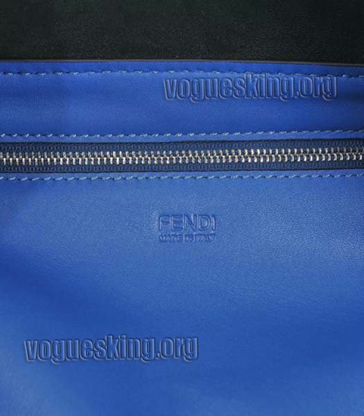 Fendi Blue Original Leather Shopping Tote Bag-4