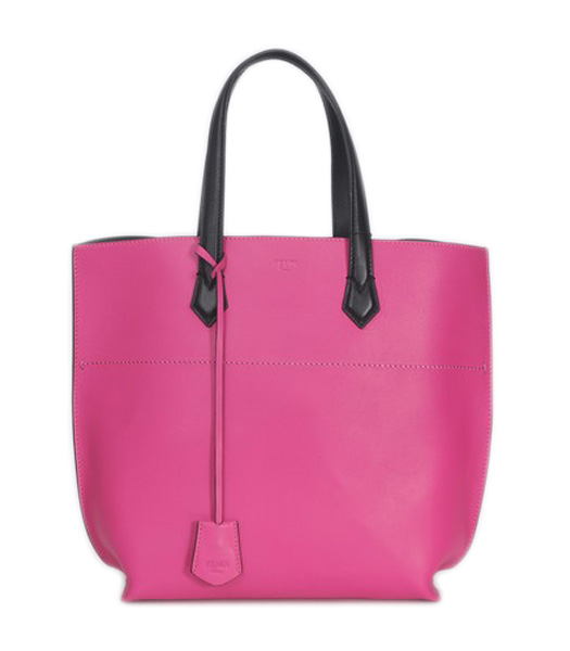 Fendi Fuchsia Original Leather Shopping Tote Bag