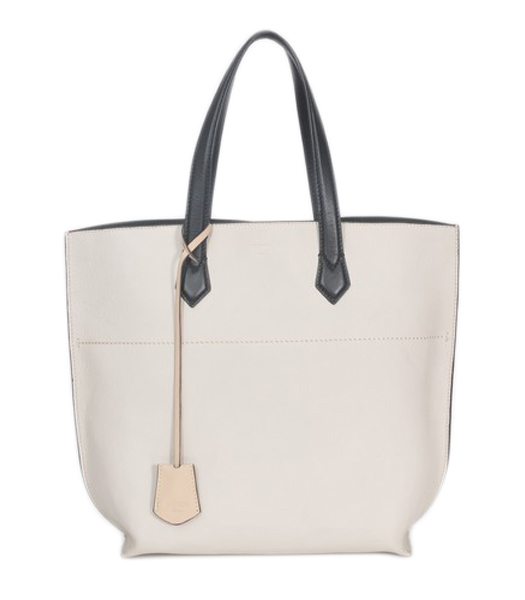 Fendi Apricot Original Leather Shopping Tote Bag