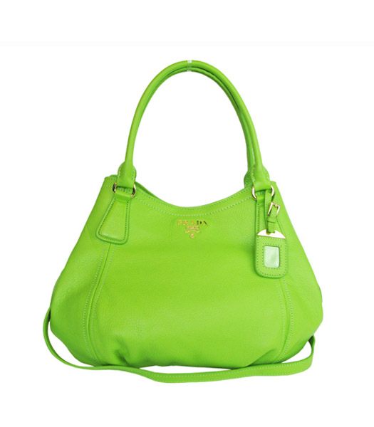 Prada Original Calfskin Leather Tote Bag Green