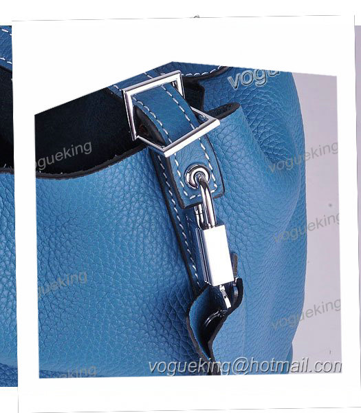 Hermes Picotin Lock MM Basket Bag With Middle Blue Leather-3