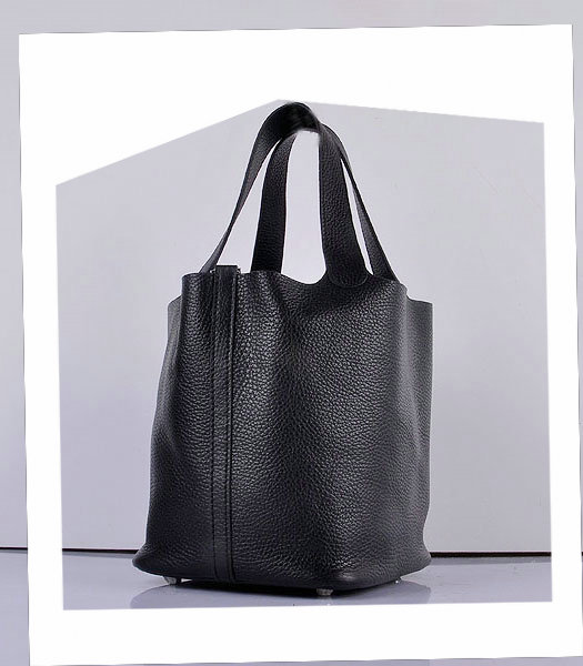 Hermes Picotin Lock MM Basket Bag With Black Leather-1