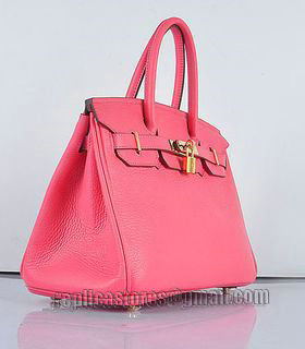 Hermes Birkin 30cm Lipstick Pink Togo Leather Bag Golden Metal-1