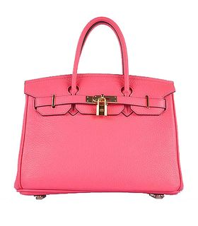 Hermes Birkin 30cm Lipstick Pink Togo Leather Bag Golden Metal