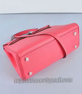 Hermes Kelly 32cm Lipstick Pink Togo Leather Bag with Silver Metal-3