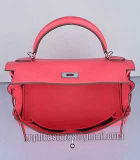 Hermes Kelly 32cm Lipstick Pink Togo Leather Bag with Silver Metal-5