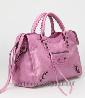 Balenciaga Motorcycle City Bag in Summer Purple Oil Original Leather-1