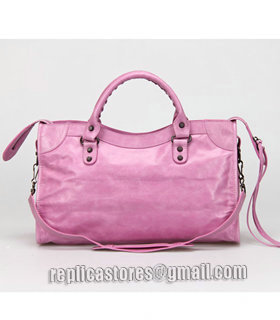 Balenciaga Motorcycle City Bag in Summer Purple Oil Original Leather-3