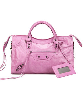 Balenciaga Motorcycle City Bag in Summer Purple Oil Original Leather
