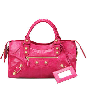 Balenciaga Large Part-Time Bag in Peach Original Leather With Golden Nails