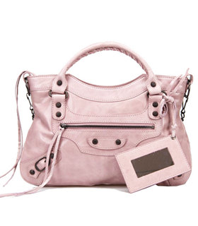 Balenciaga Mini Motorcycle City Bag In Light Pink Original Leather