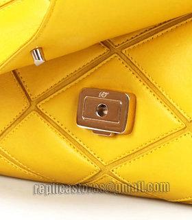 ... Roger Vivier Mustard Yellow Lambskin Leather Mini Prismick Shoulder Bag-6  ... 3a287597b0dd1