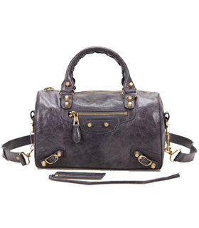 Balenciaga Giant Mini Twiggy Bag With Dark Grey Leather Small Golden Nails